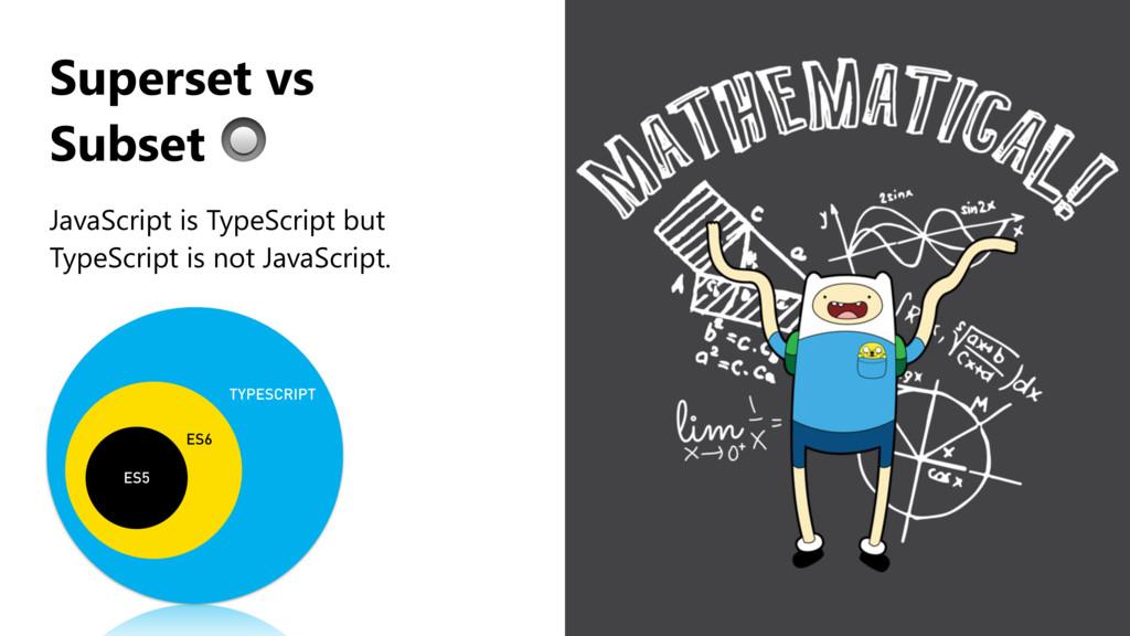 JavaScript is TypeScript but TypeScript is not ...