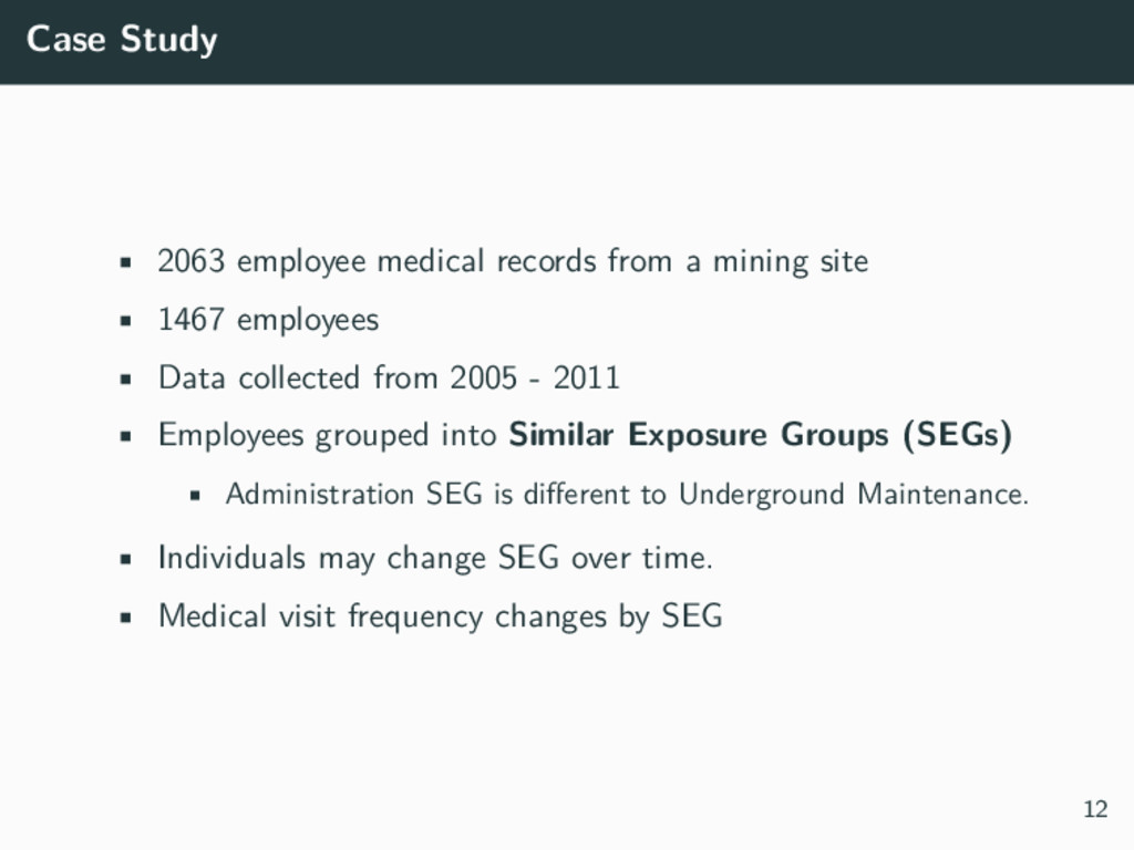 Case Study • 2063 employee medical records from...