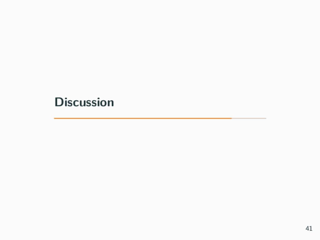 Discussion 41