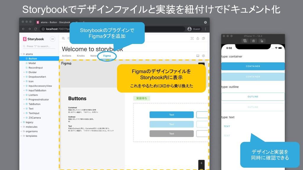 Storybookのプラグインで Figmaタブを追加 デザインと実装を 同時に確認できる S...