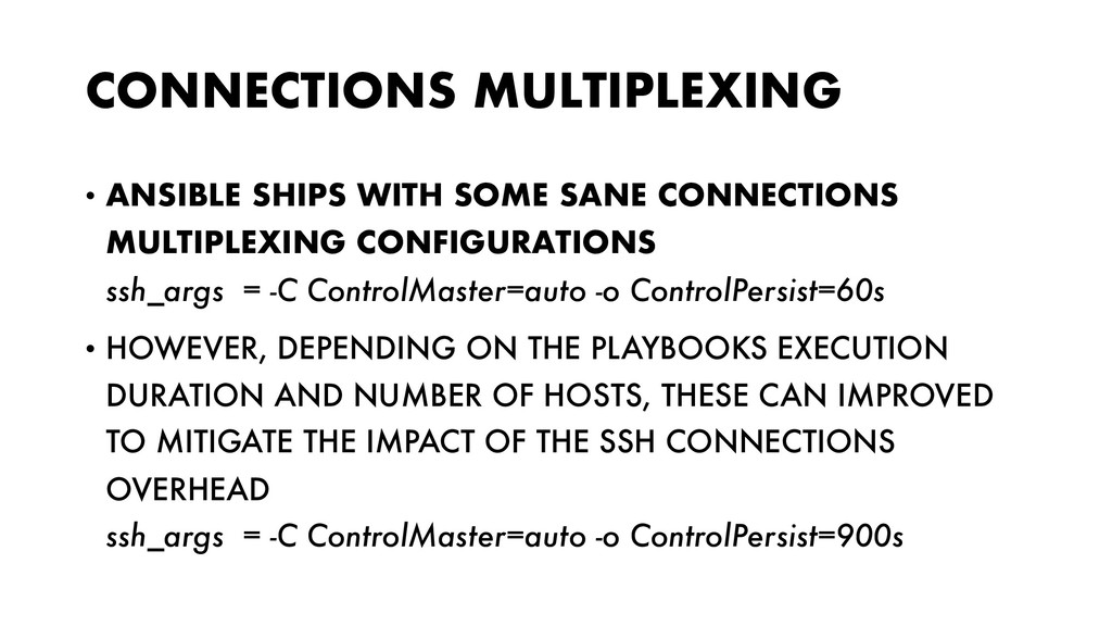 CONNECTIONS MULTIPLEXING • ANSIBLE SHIPS WITH S...