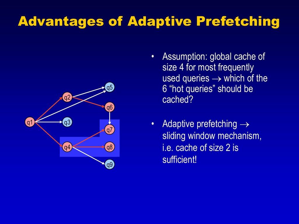 q1 q3 q5 q9 q2 q6 q4 q7 q8 Advantages of Adapti...