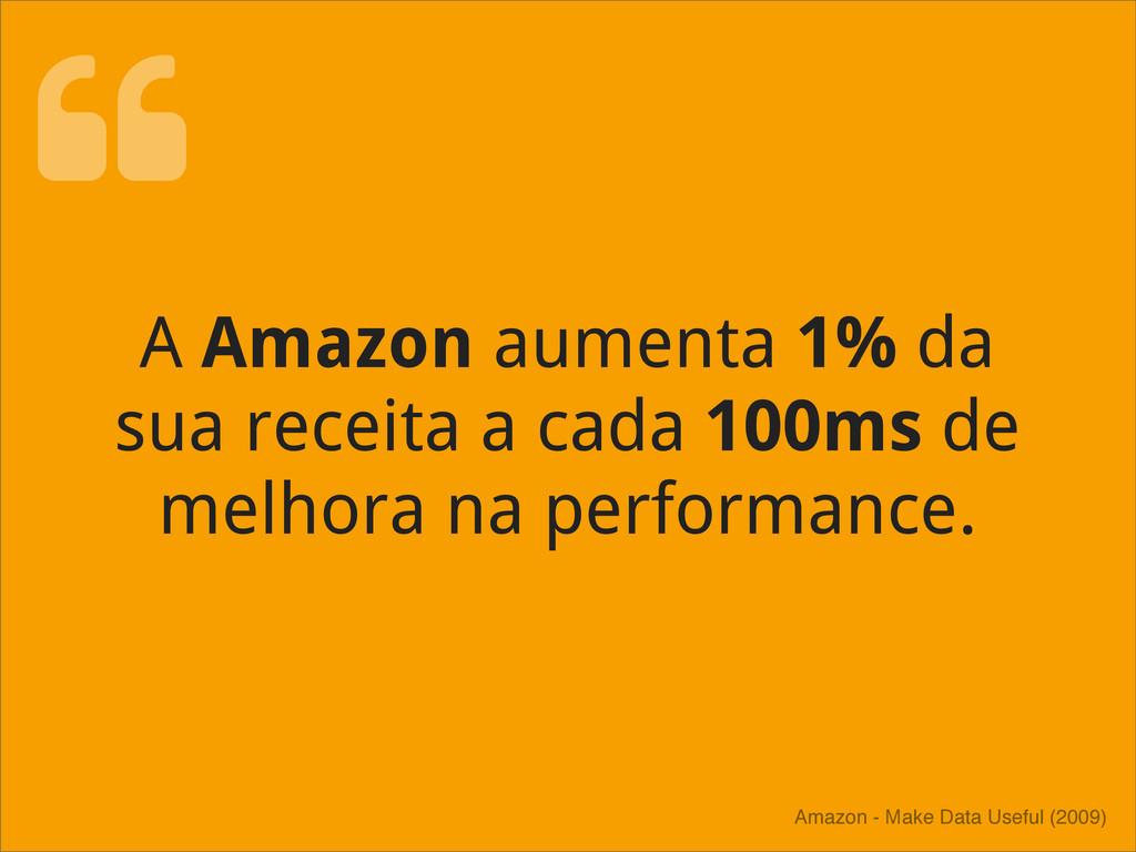 A Amazon aumenta 1% da sua receita a cada 100ms...