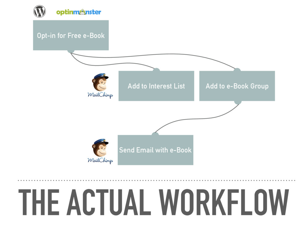 THE ACTUAL WORKFLOW Opt-in for Free e-Book Add ...