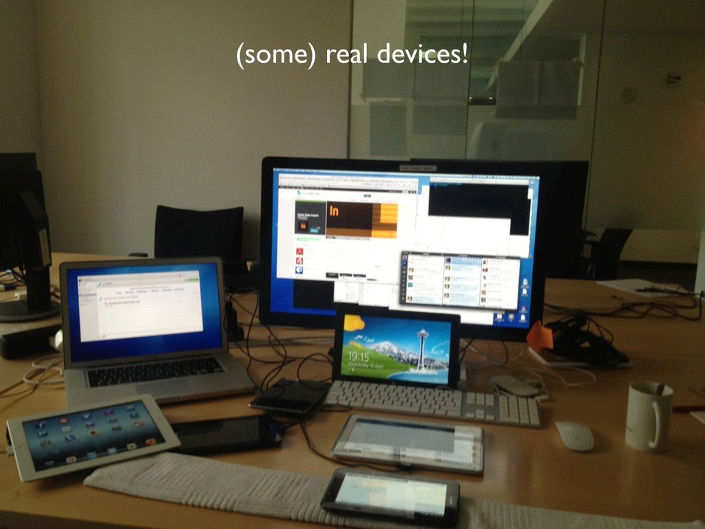 (some) real devices!