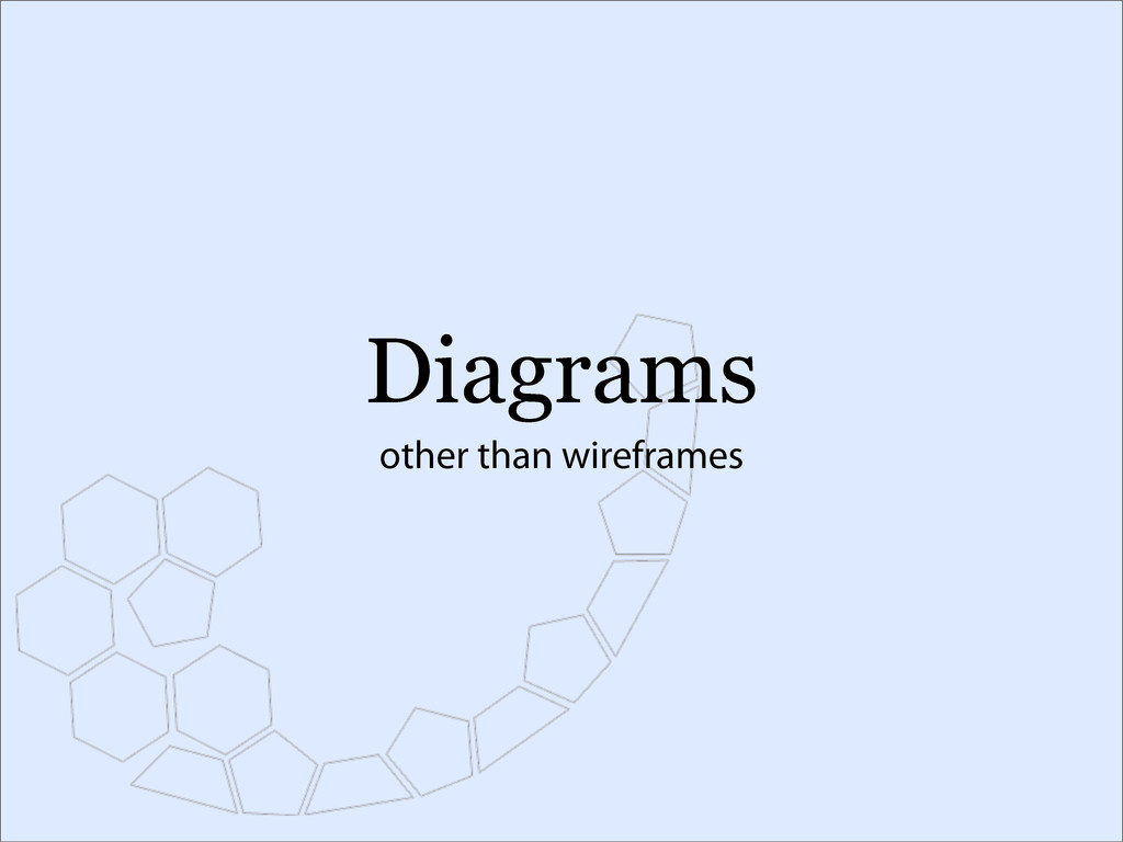 Diagrams other than wireframes