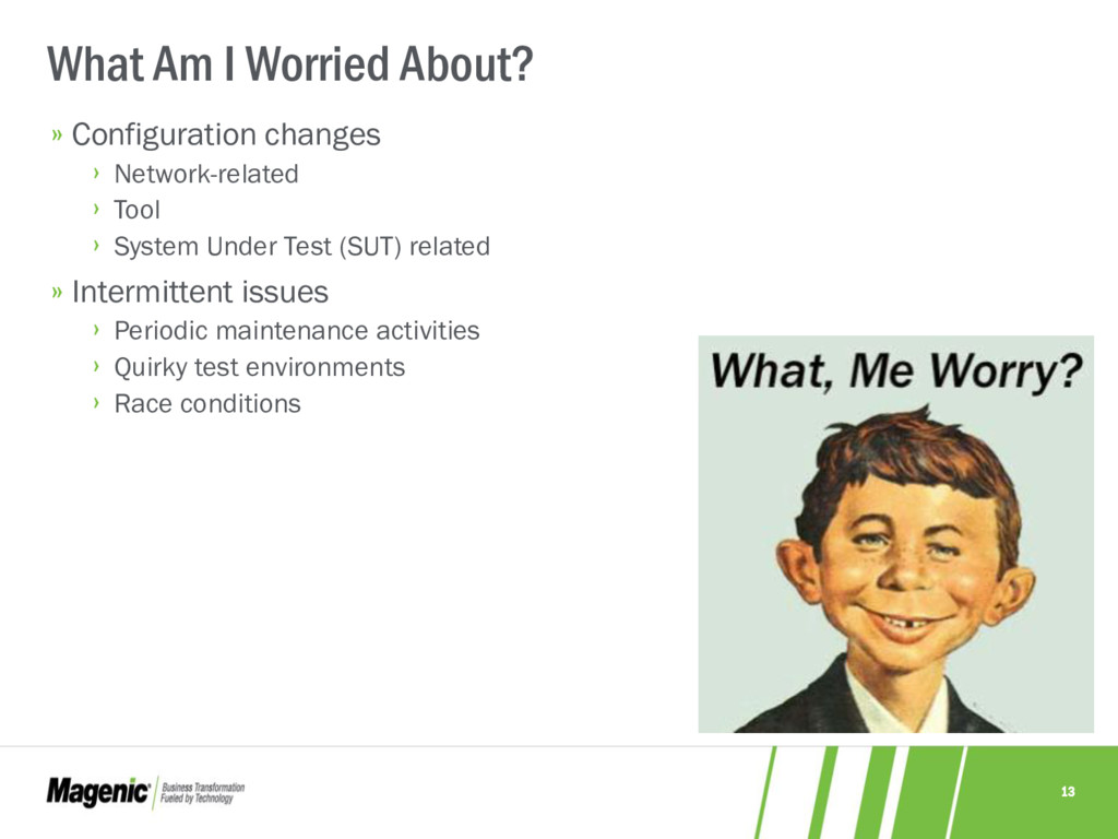 13 What Am I Worried About? » Configuration cha...