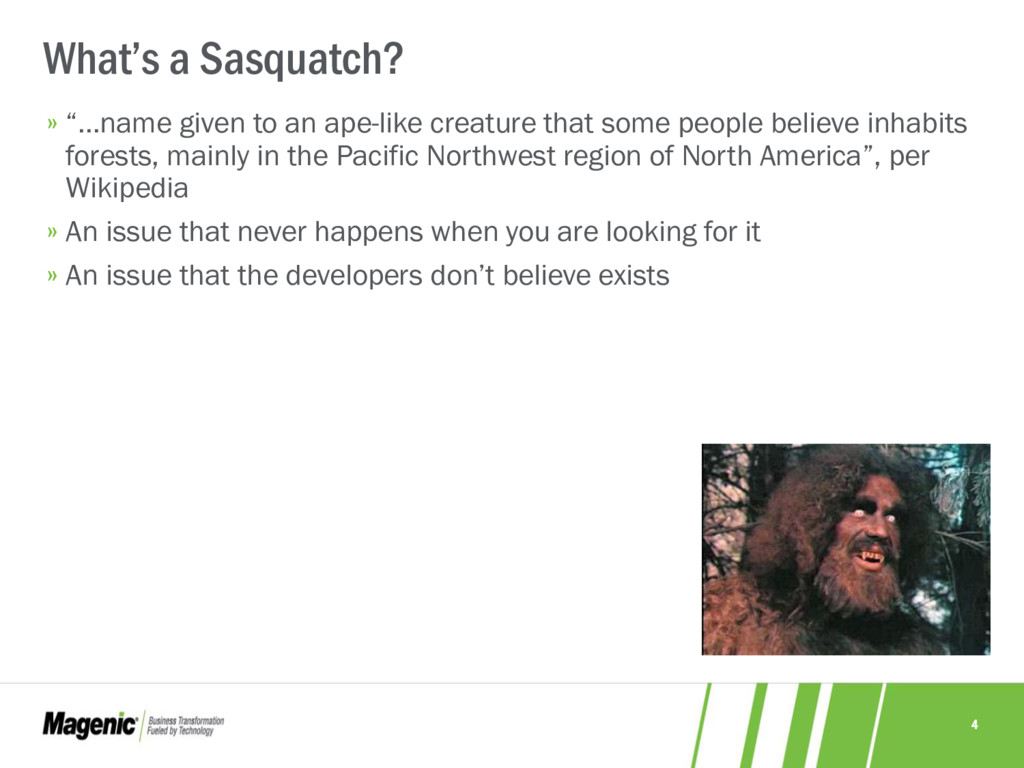 """4 What's a Sasquatch? » """"…name given to an ape-..."""