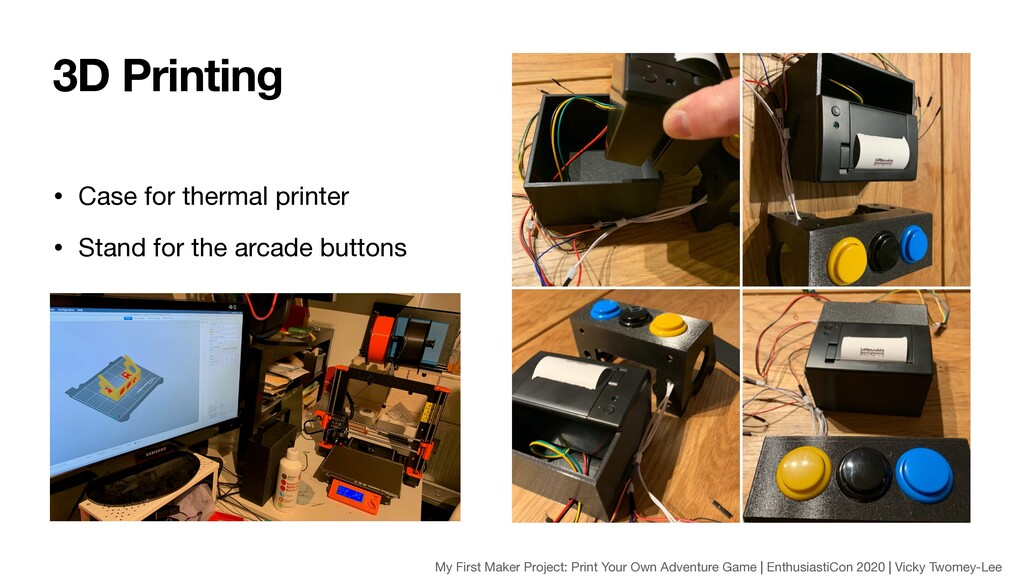 • Case for thermal printer  • Stand for the arc...
