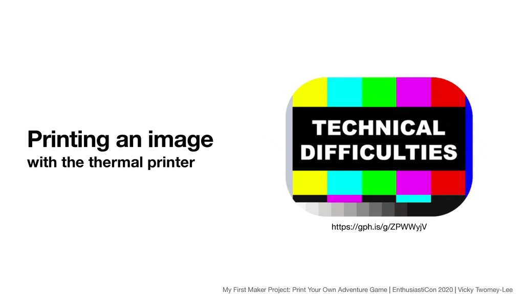 Printing an image with the thermal printer http...