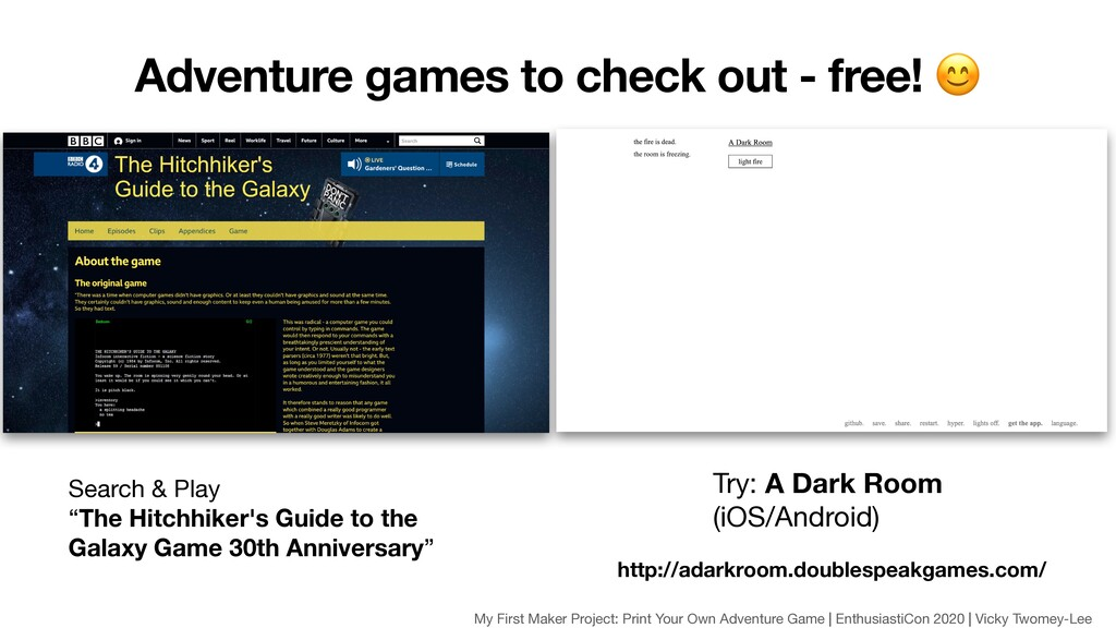 """Search & Play   """"The Hitchhiker's Guide to the ..."""