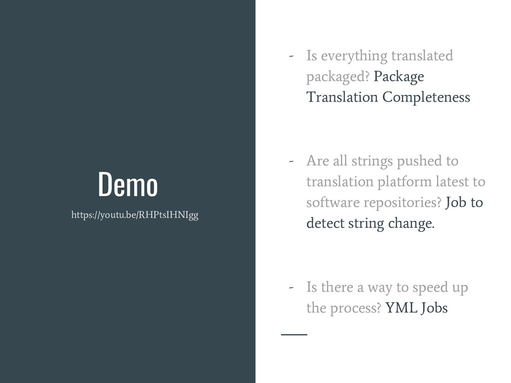 Demo - Is everything translated packaged? Packa...