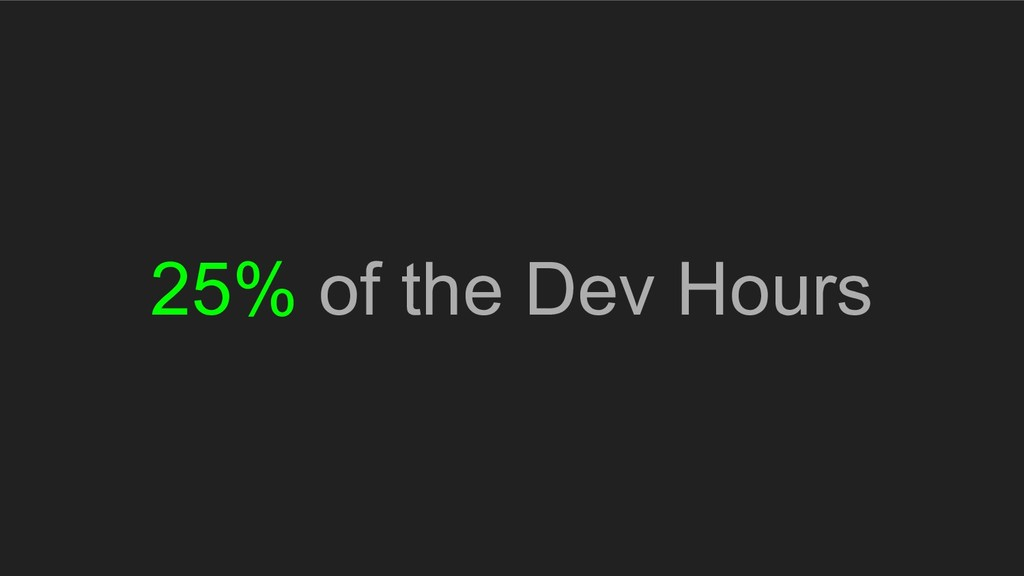 25% of the Dev Hours