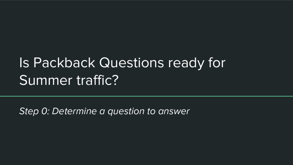 Is Packback Questions ready for Summer traffic?...