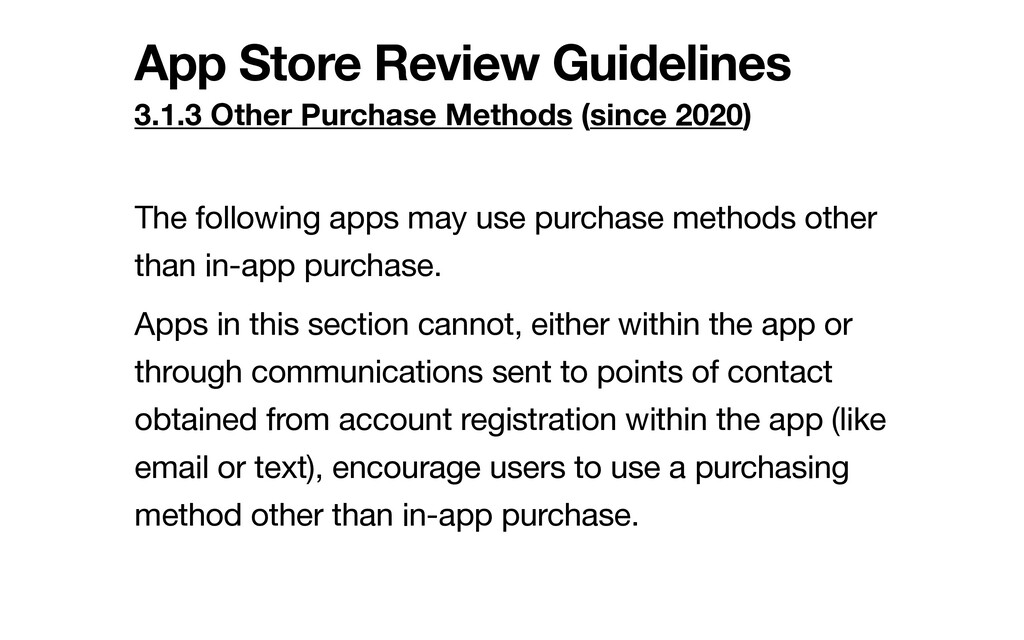 App Store Review Guidelines 3.1.3 Other Purchas...