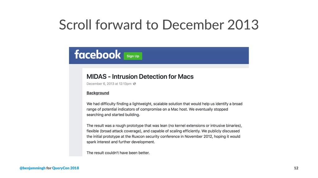 Scroll forward to December 2013 @benjammingh fo...