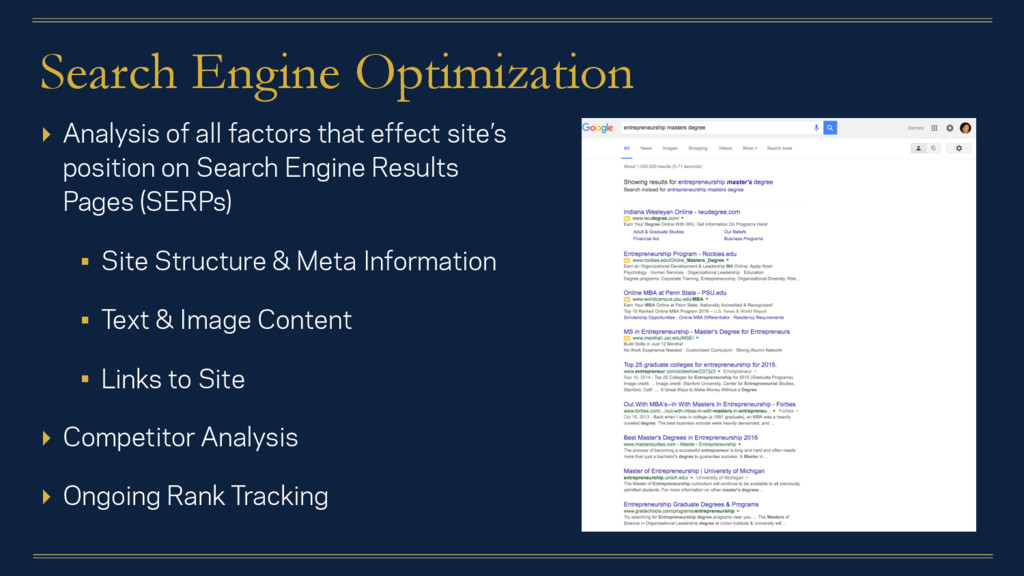 Search Engine Optimization ▸ Analysis of all fa...