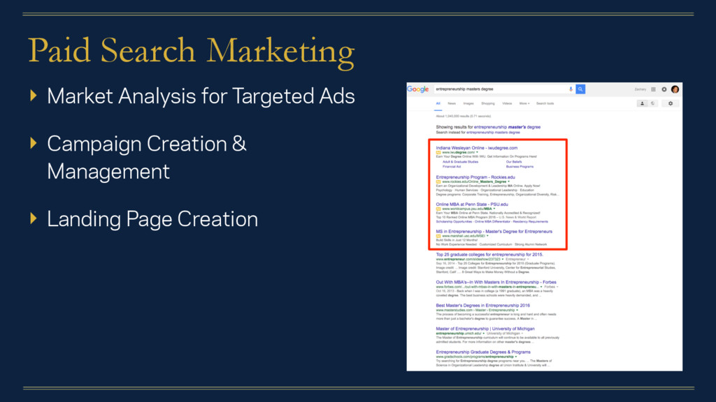 Paid Search Marketing ▸ Market Analysis for Tar...