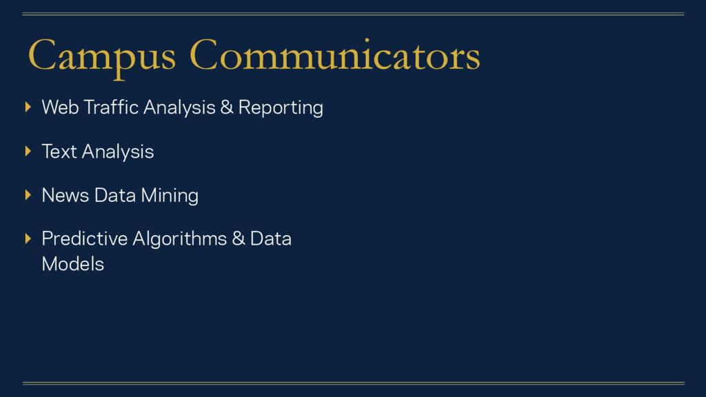 Campus Communicators ▸ Web Traffic Analysis & R...