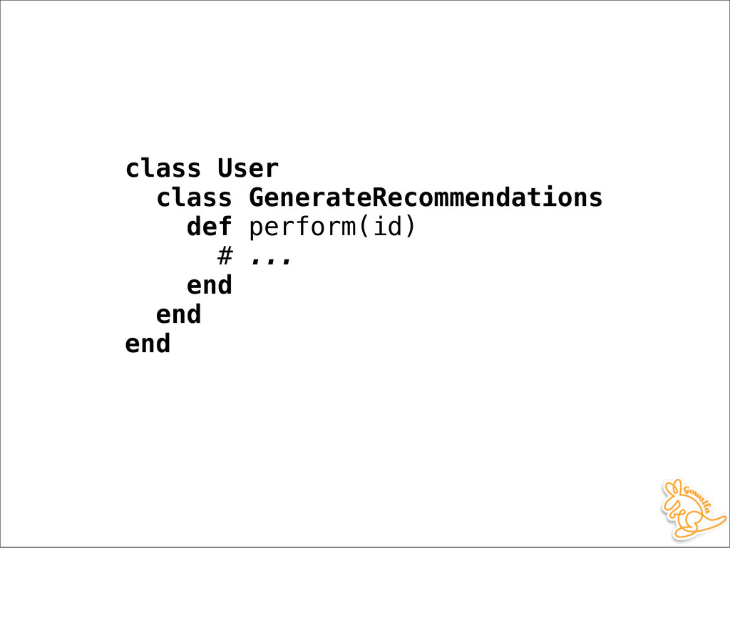 class User class GenerateRecommendations def pe...