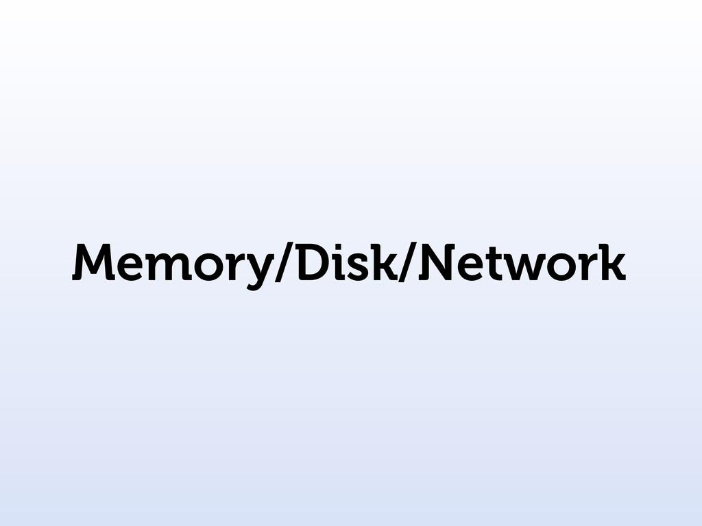 Memory/Disk/Network