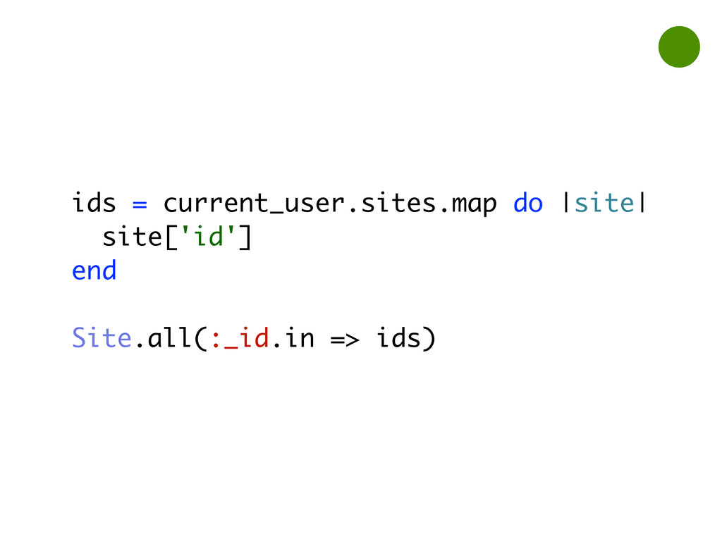 ids = current_user.sites.map do |site| site['id...