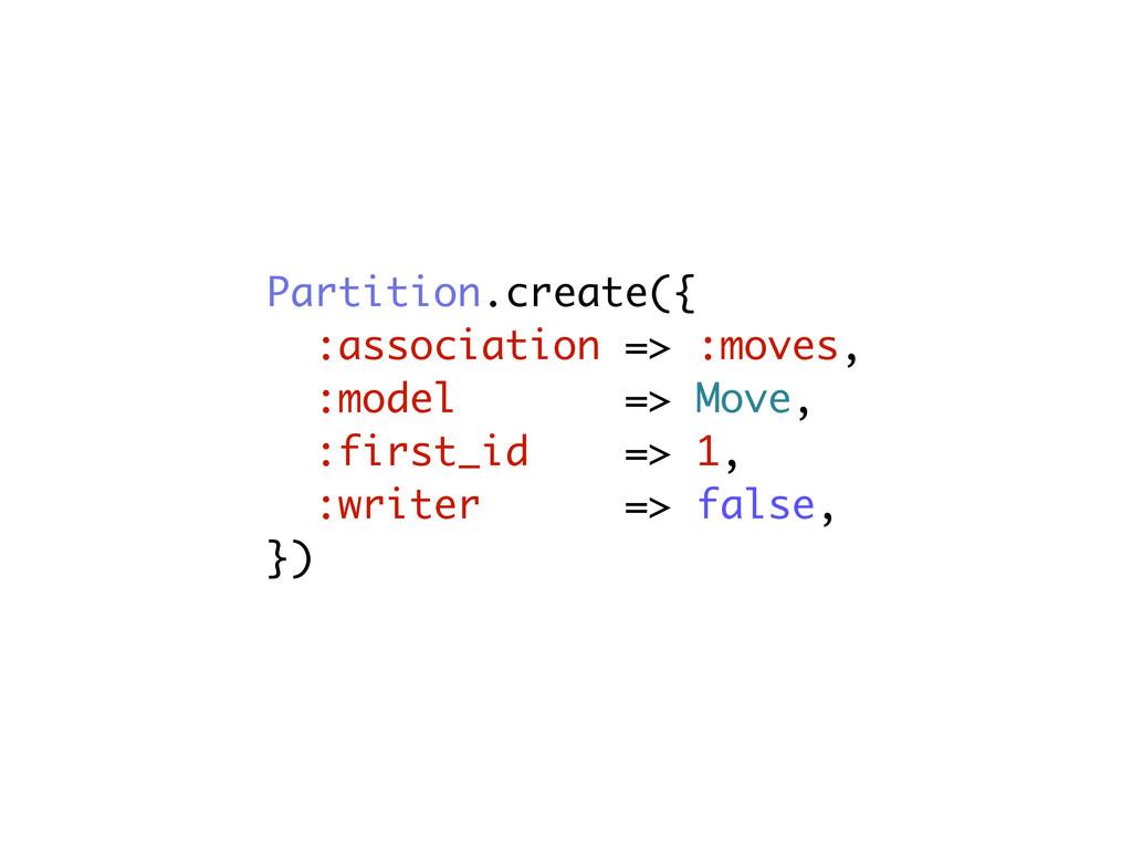 Partition.create({ :association => :moves, :mod...