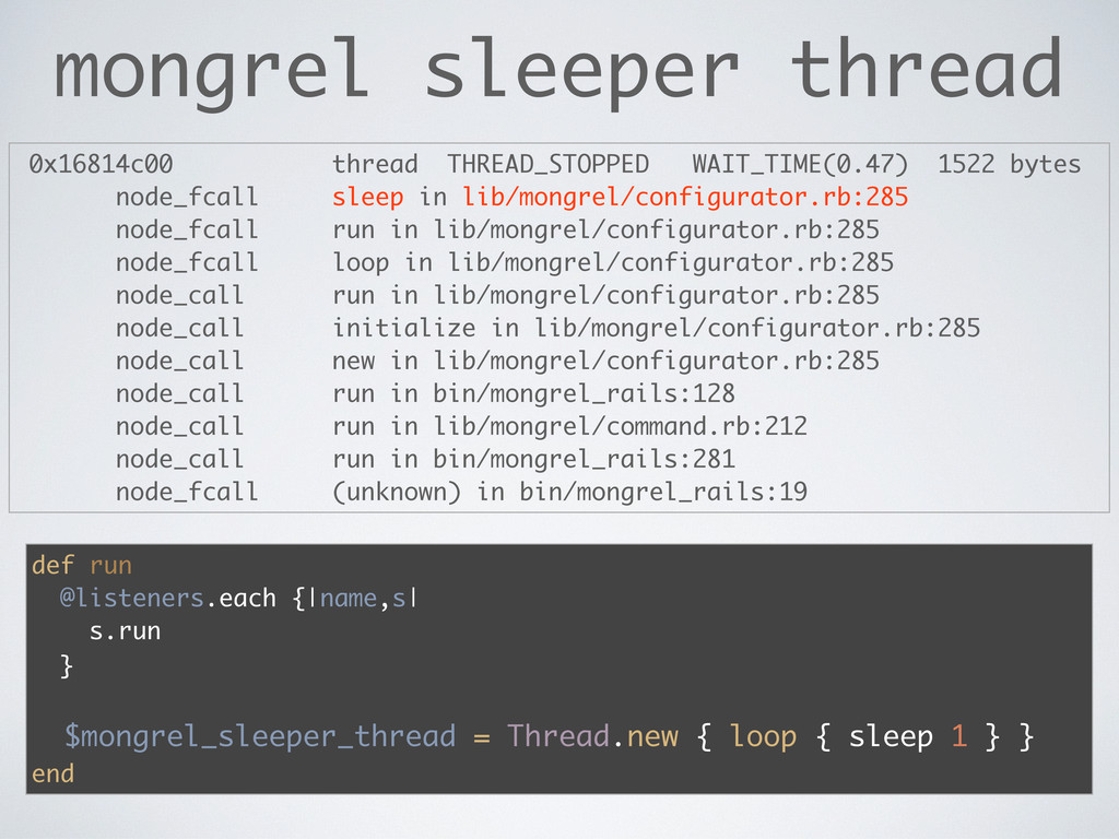 mongrel sleeper thread 0x16814c00 thread THREAD...