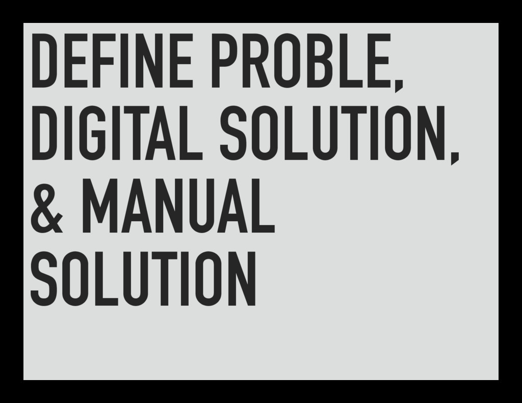 DEFINE PROBLE, DIGITAL SOLUTION, & MANUAL SOLUT...