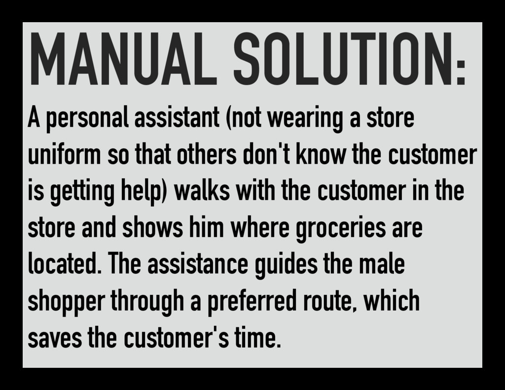 MANUAL SOLUTION: A personal assistant (not wear...