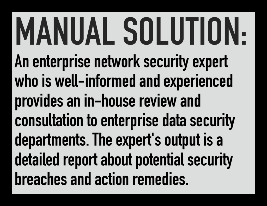 MANUAL SOLUTION: An enterprise network security...