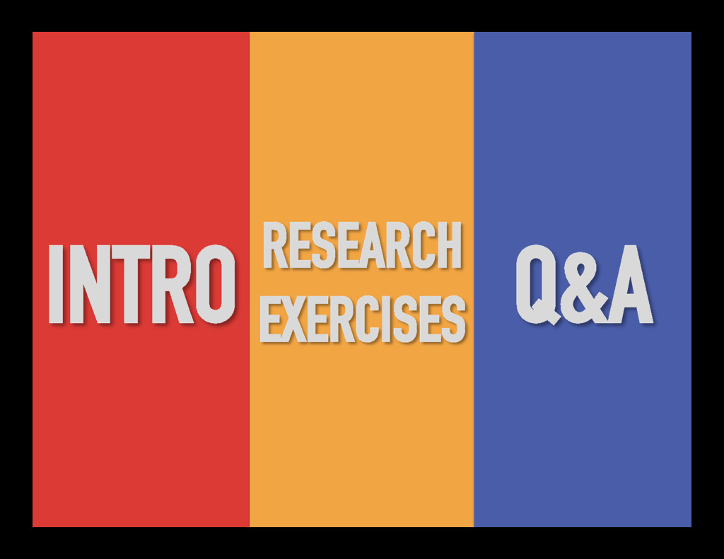 INTRO RESEARCH EXERCISES Q&A