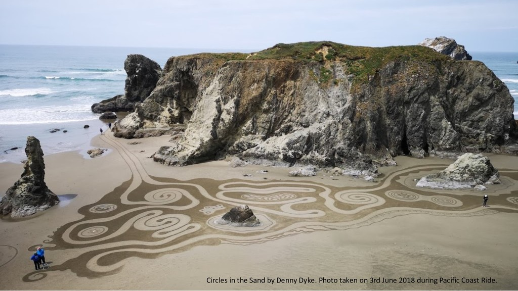 Room Sharing Circles in the Sand by Denny Dyke....