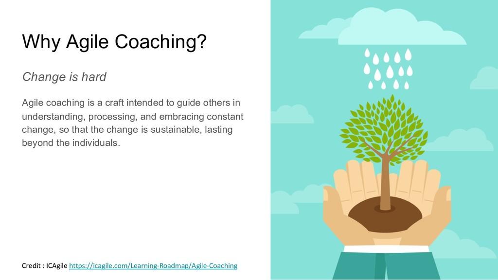 Why Agile Coaching? Change is hard Agile coachi...