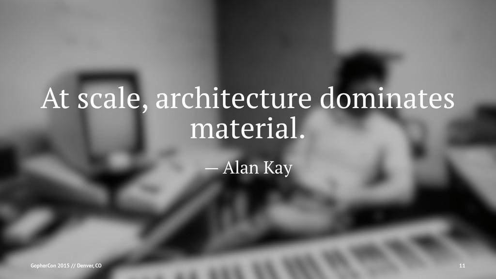 At scale, architecture dominates material. — Al...