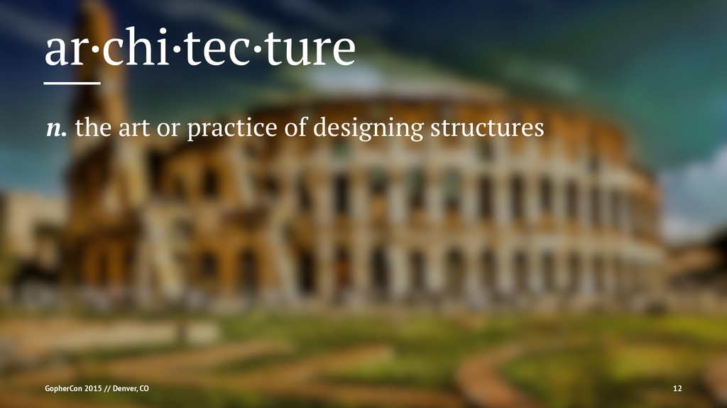 ar·chi·tec·ture n. the art or practice of desig...
