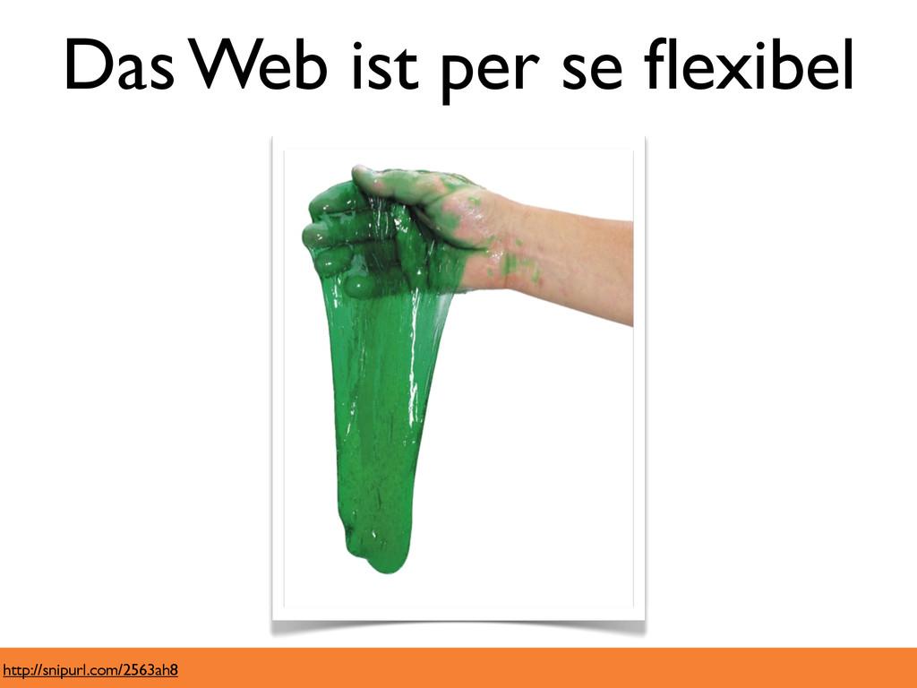 Das Web ist per se flexibel http://snipurl.com/2...