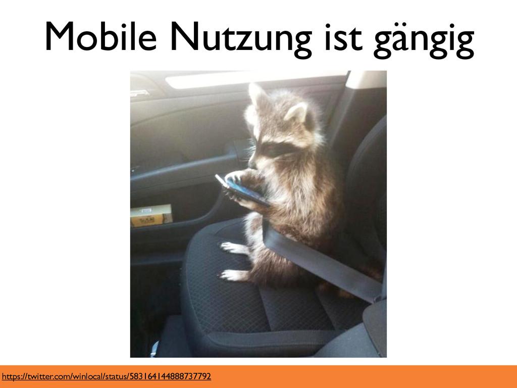 Mobile Nutzung ist gängig https://twitter.com/w...