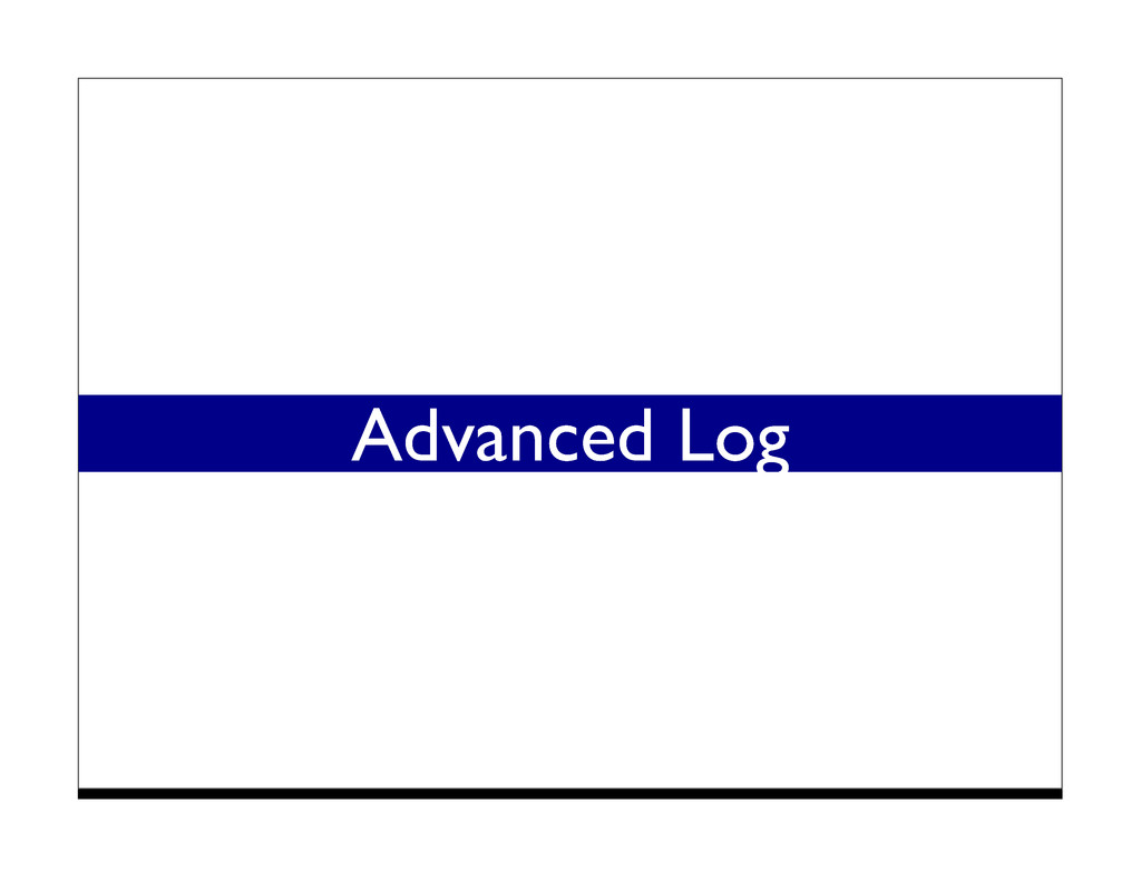Advanced Log