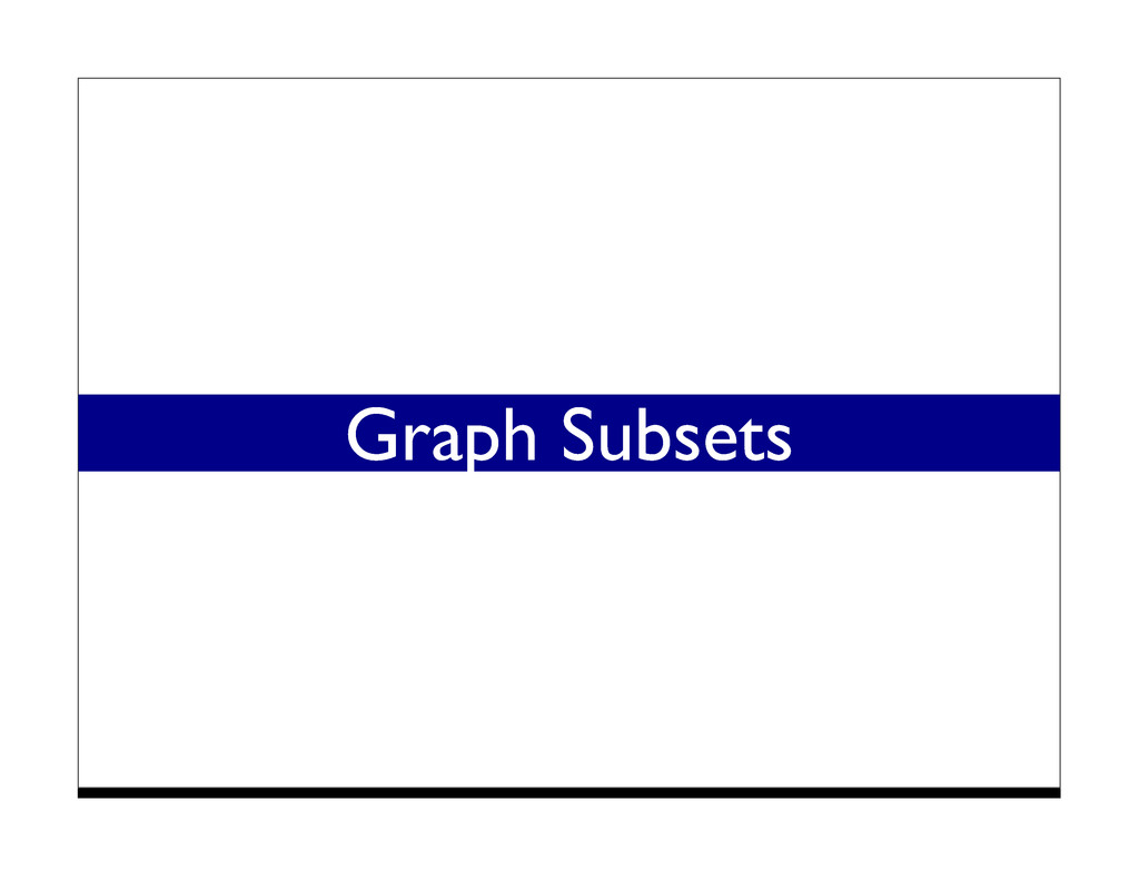 Graph Subsets
