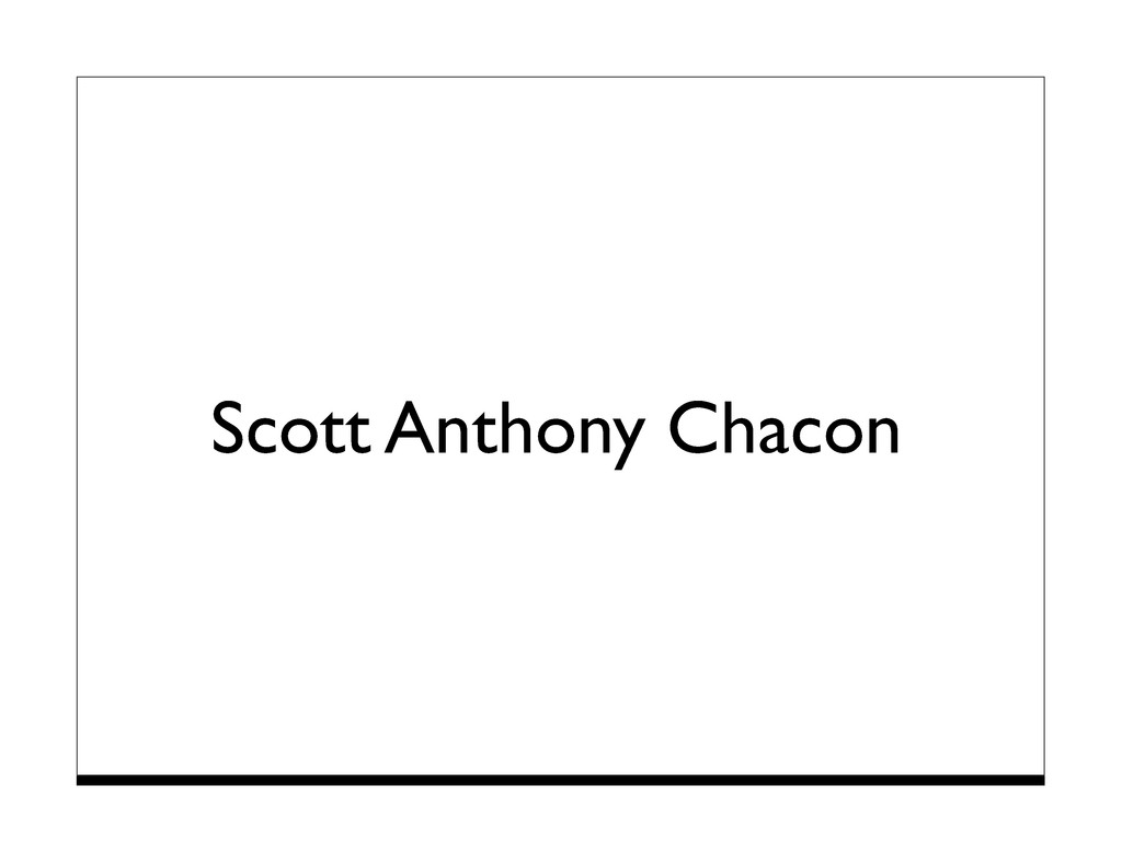 Scott Anthony Chacon