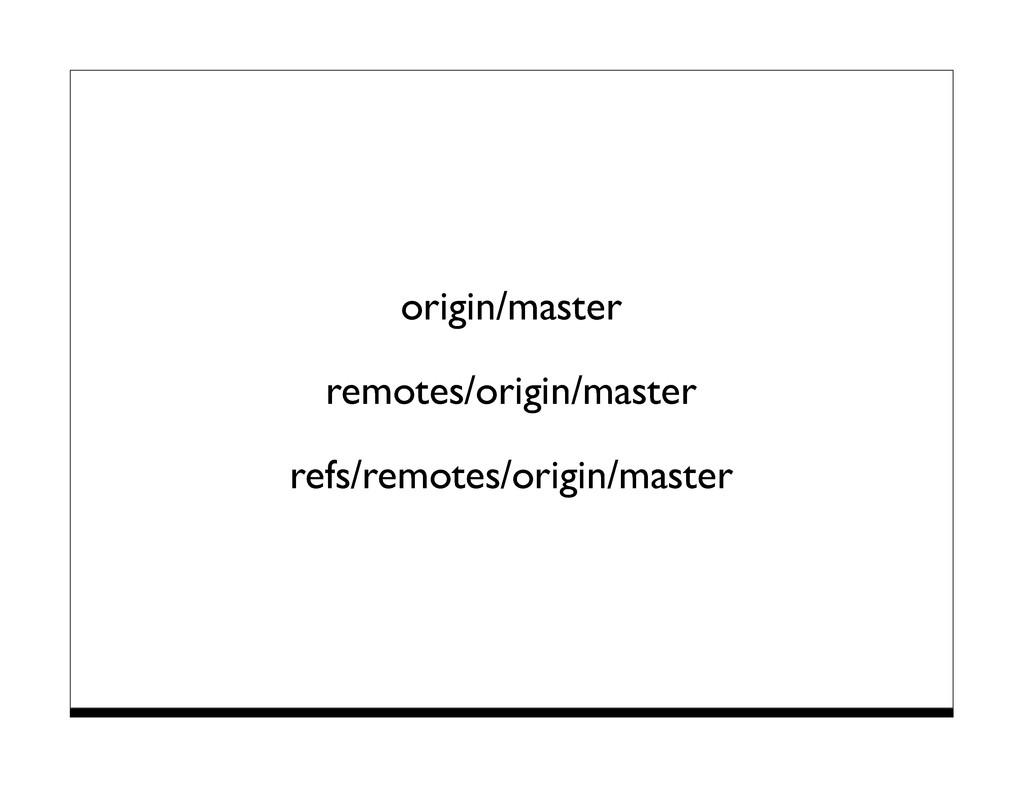 origin/master remotes/origin/master refs/remote...