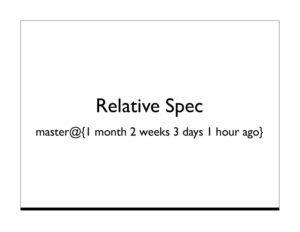 Relative Spec master@{1 month 2 weeks 3 days 1 ...