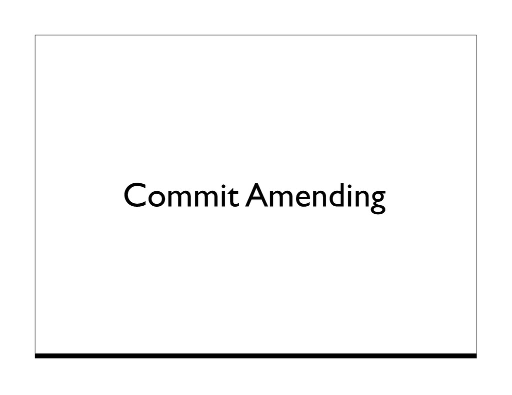 Commit Amending