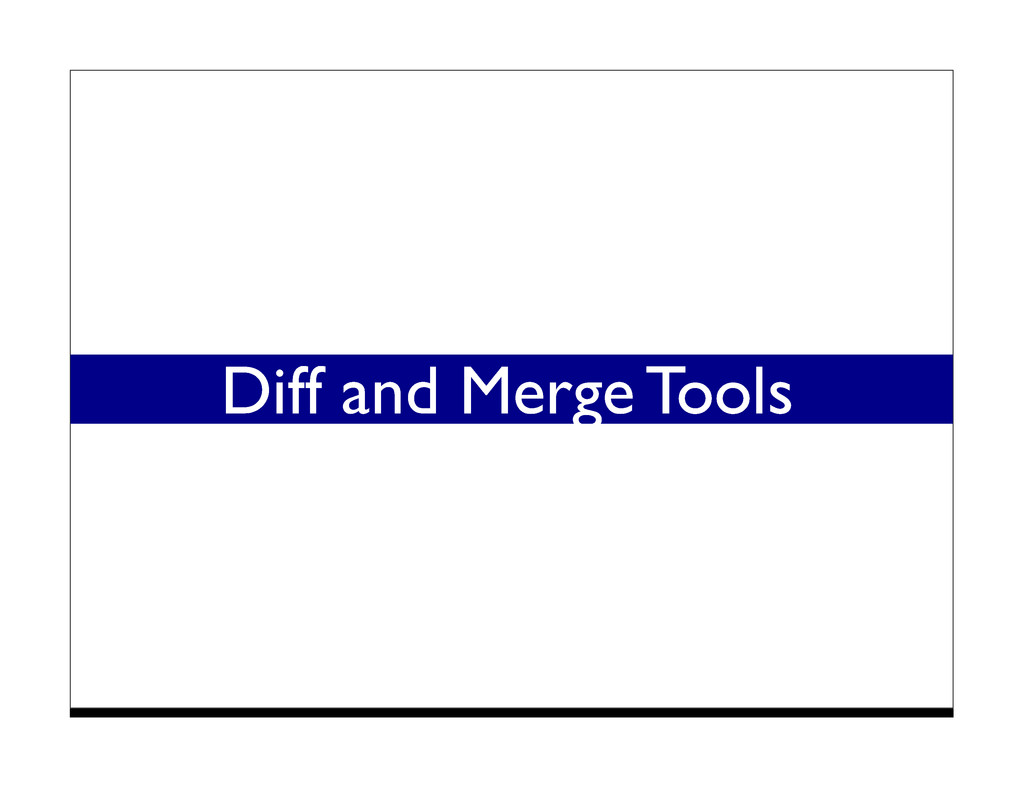 Diff and Merge Tools