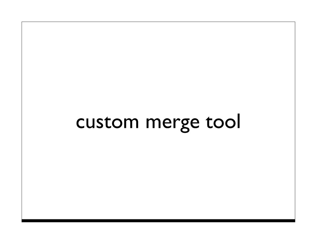 custom merge tool