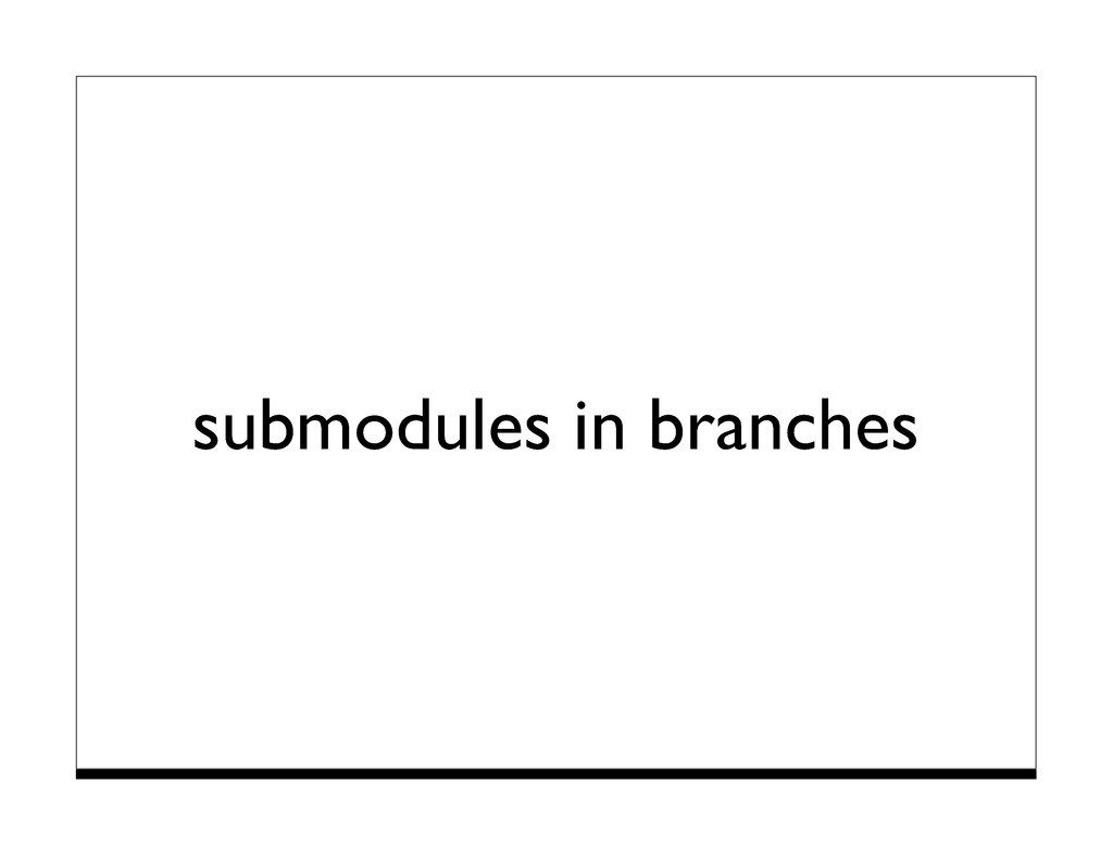 submodules in branches