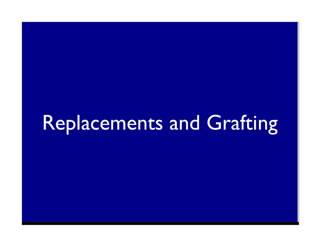 Replacements and Grafting