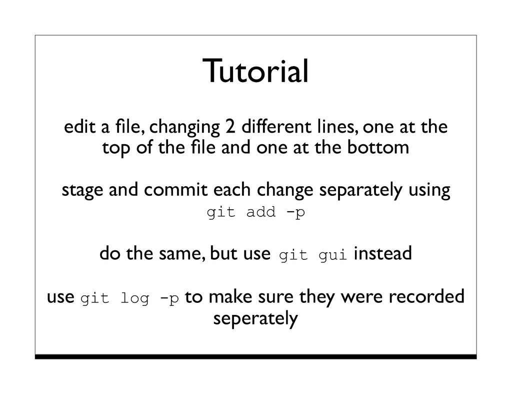 Tutorial edit a file, changing 2 different lines...