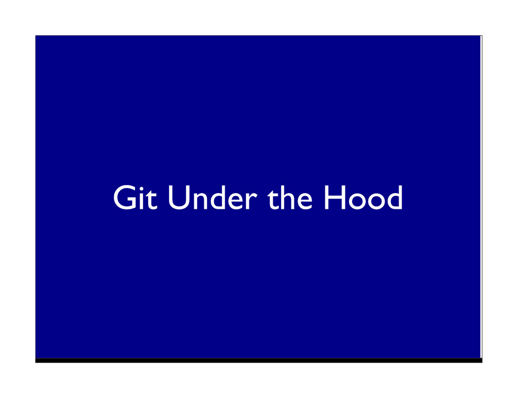 Git Under the Hood